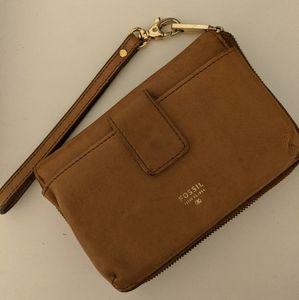 Genuine Leather Wallet Wristlet